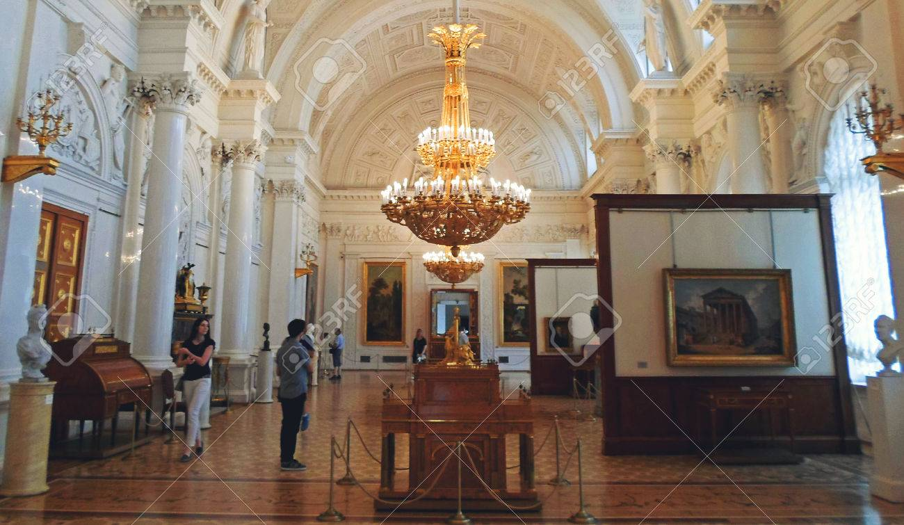 Interior of The State Hermitage Museum or the Winter Palace,