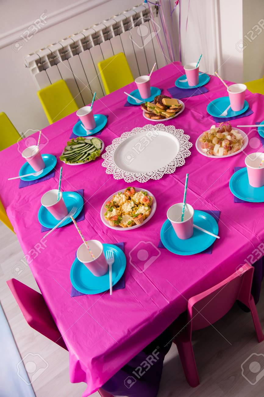 First Baby Girl Birthday Party Concept Table For Kids And Decor