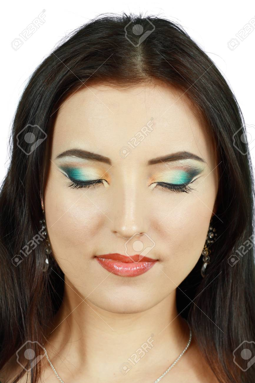 Portrait of sensual woman model with arabic bright make-up Stock Photo - 16012552