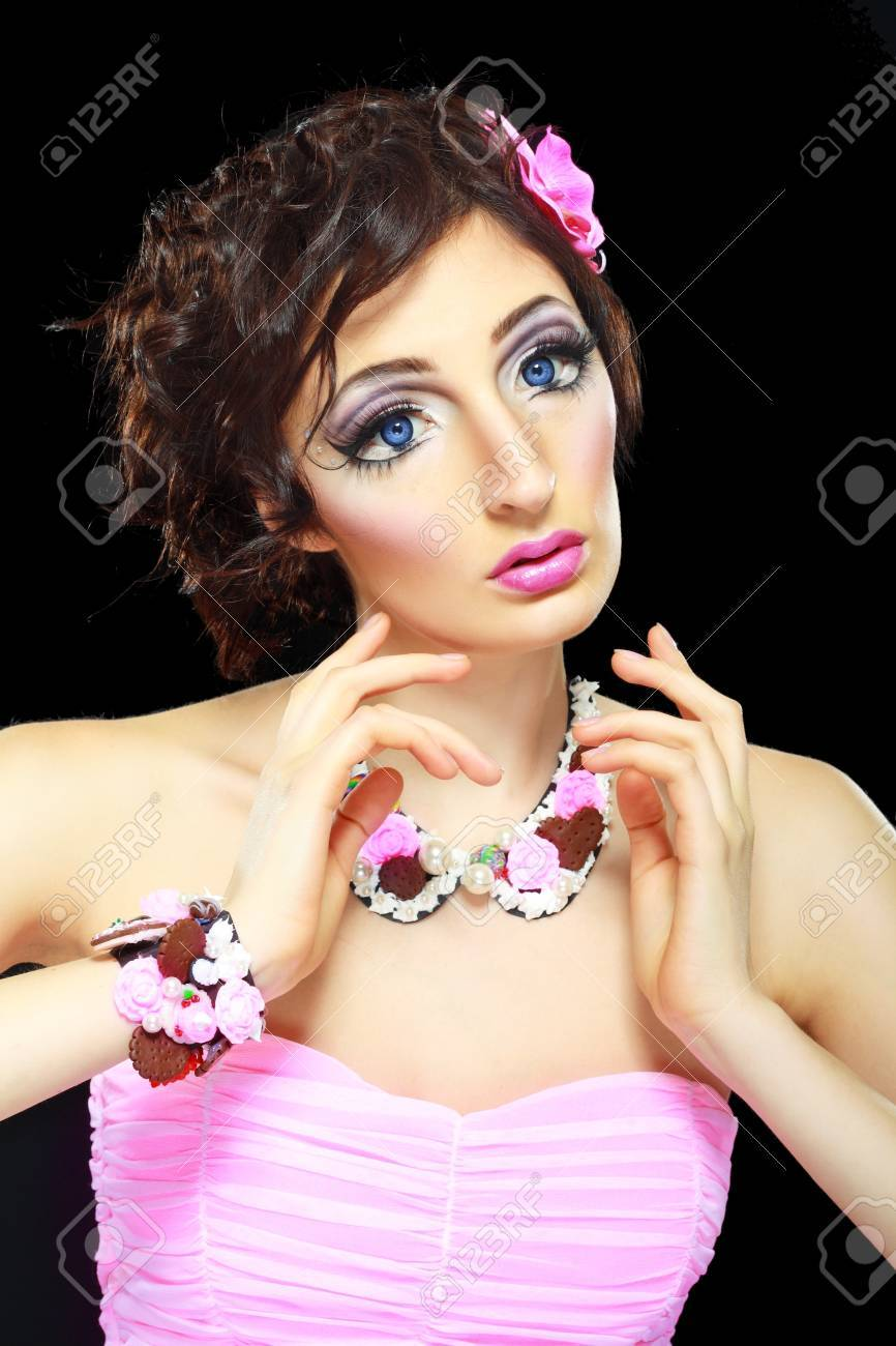 With Barbie Doll Make-up