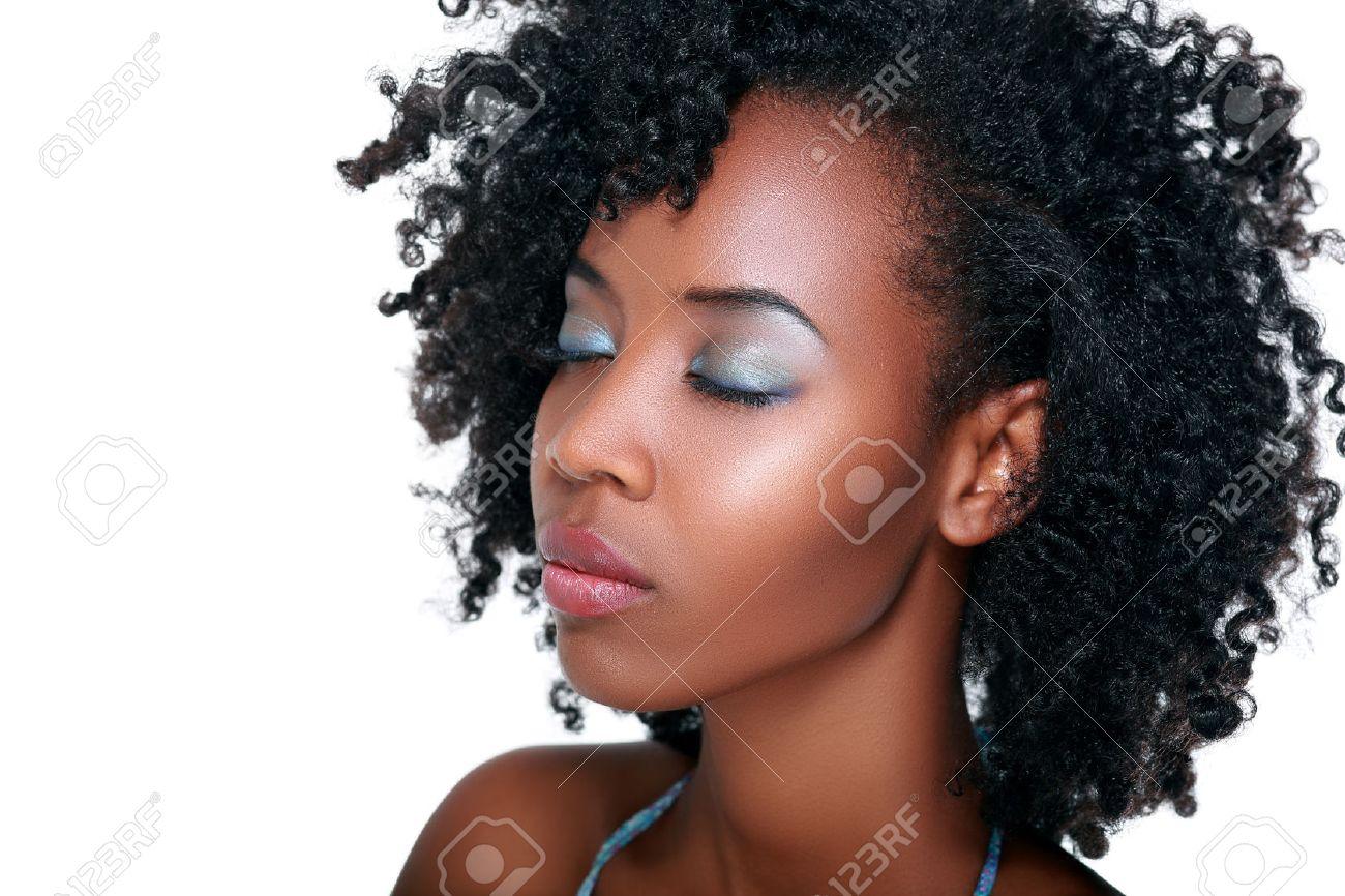 Superbe Belle Jeune Afro Americaine Femme Noire Beauty Portrait