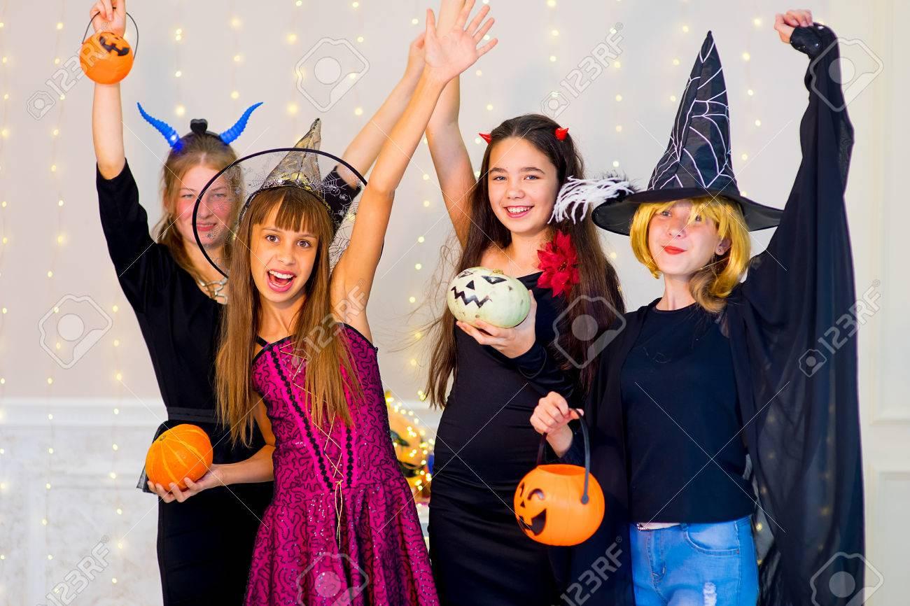 Halloween Gruppo.Stock Photo