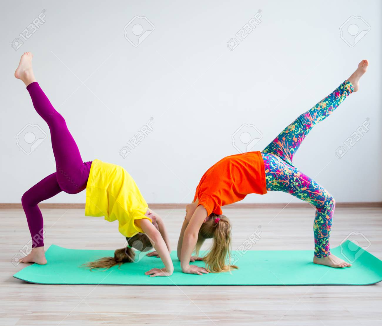 Kids Doing Exercises Stock Photo Picture And Royalty Free Image Image 92538040