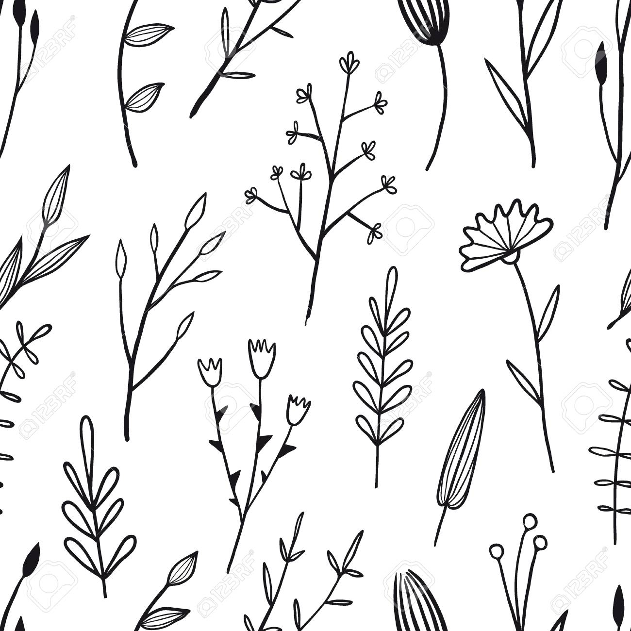 Flower simple seamless pattern graphic design for paper, textile..