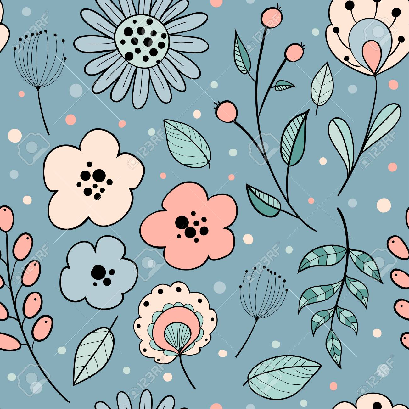 Abstract Floral Graphic Design Trendy Creative Seamless Pattern