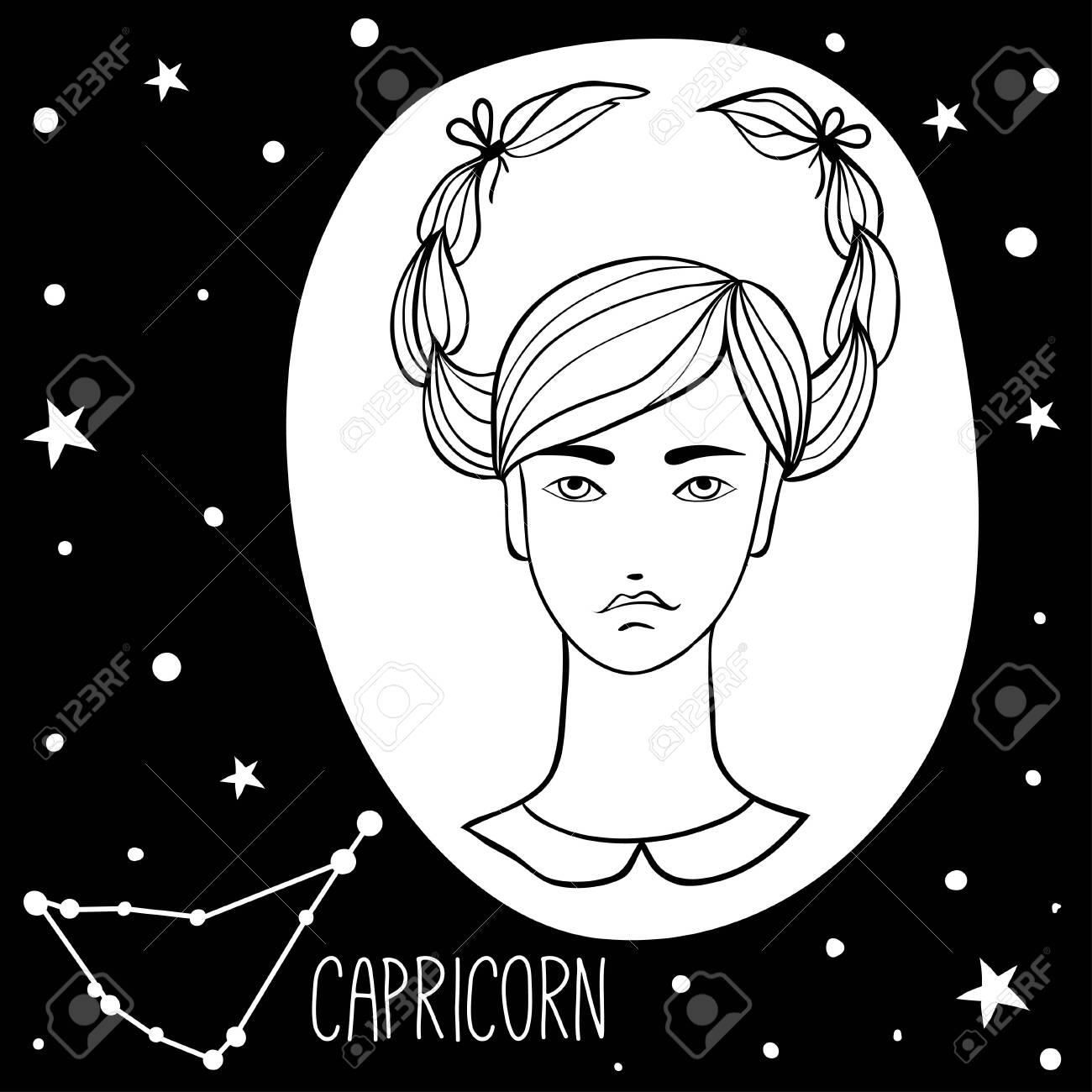 Capricorn Woman Image Art Sketch