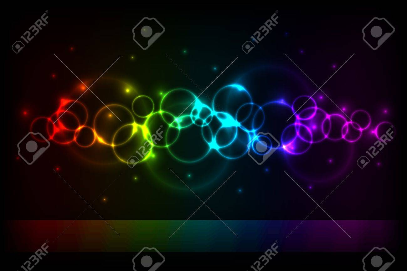 Vertical color circles background with copy space Stock Vector - 14433028