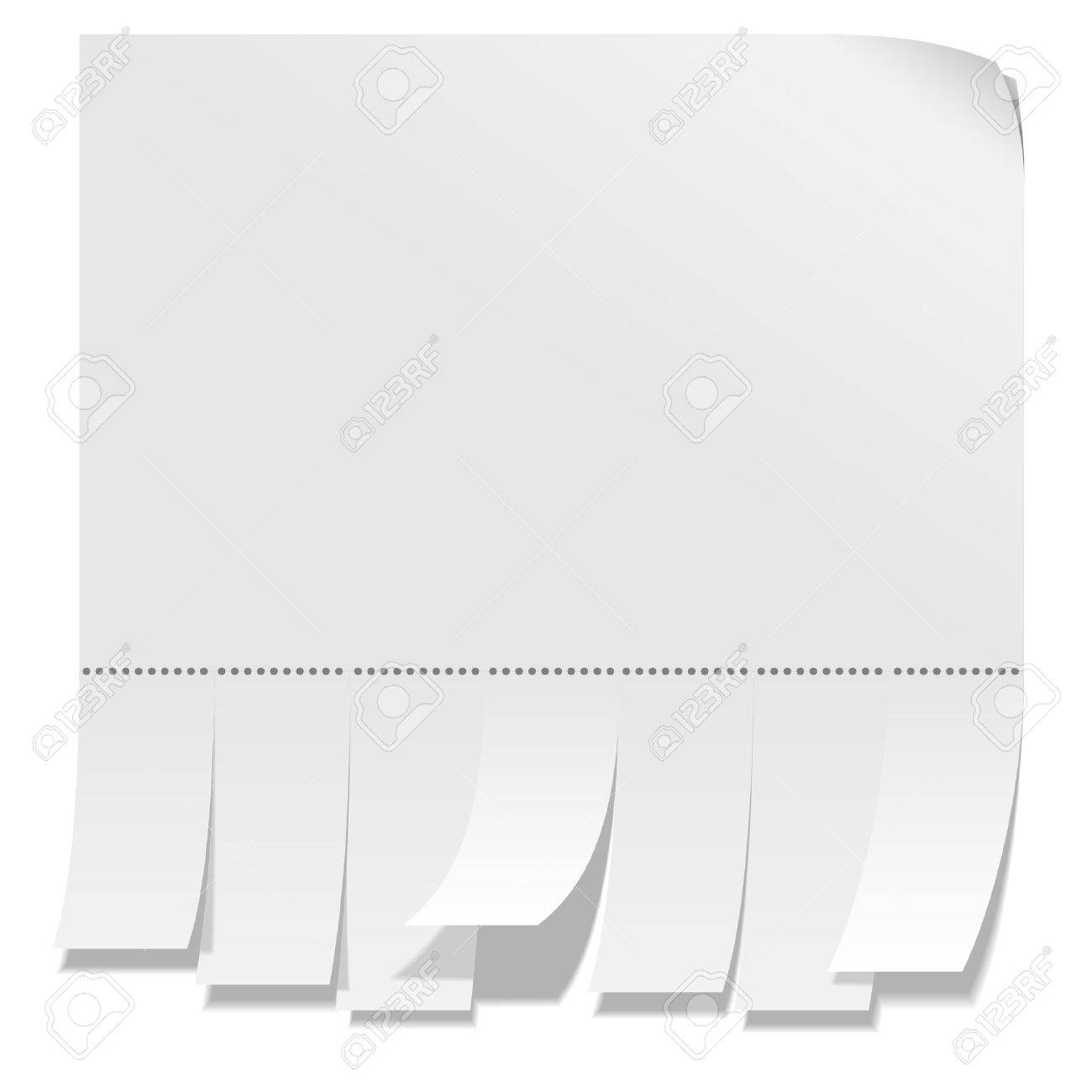 Street Advertisement With Tear-off Stripes Of Paper. Royalty Free ...