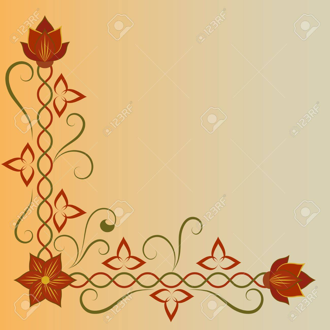 Corner flower ornament with copy space Stock Vector - 14907998