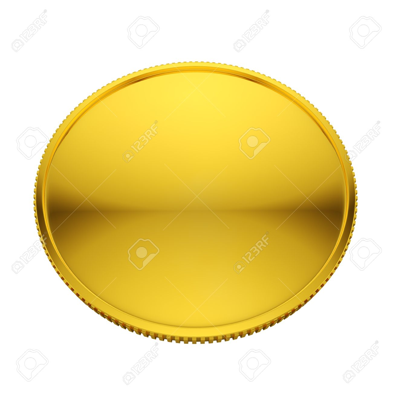 Blank golden coin isolated on white background Stock Photo - 17599685