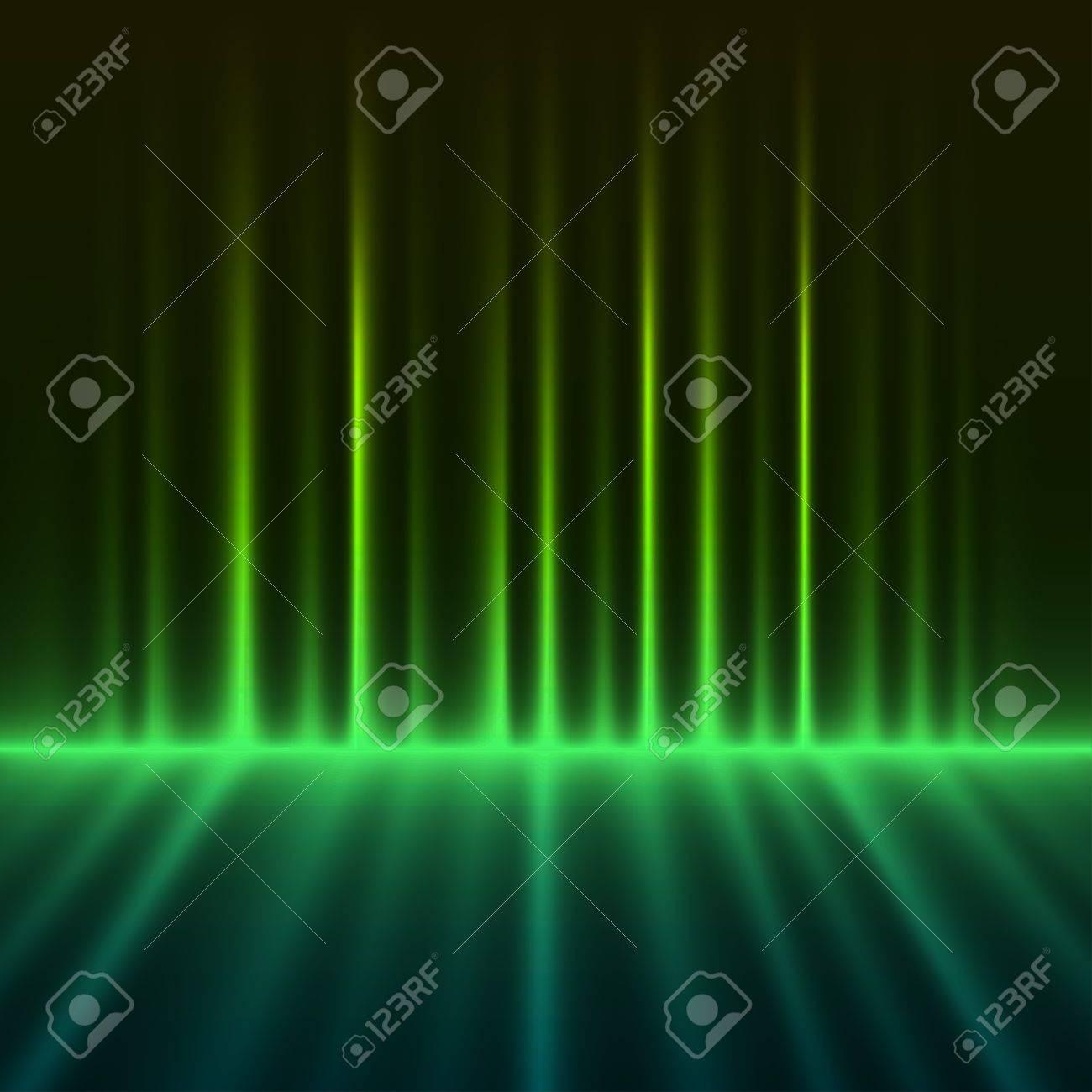 Abstract green colored aurora borealis lights vector background Stock Vector - 19701728