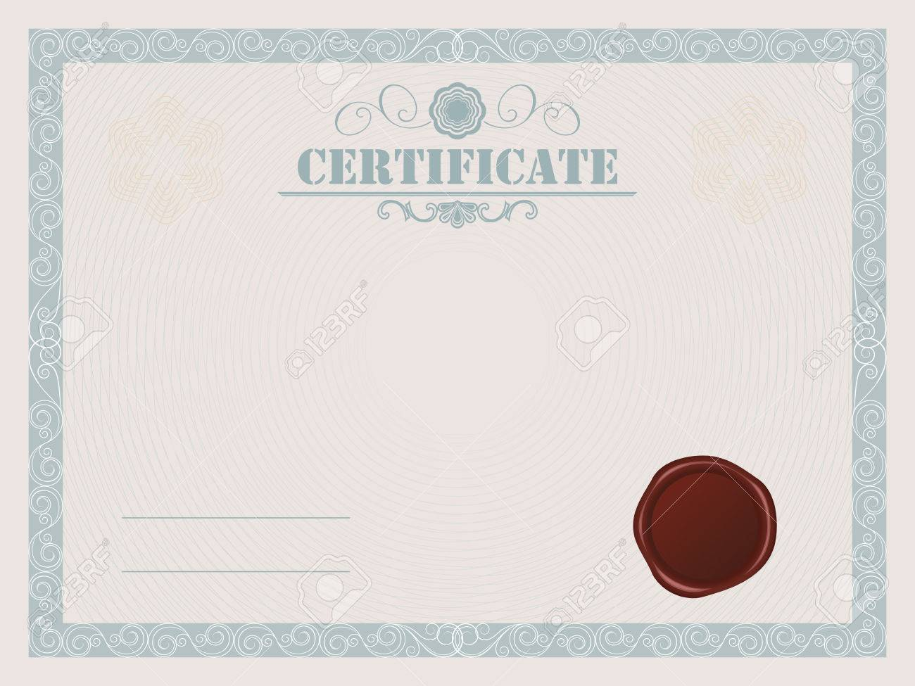 Certificate blank template with wax seal royalty free cliparts certificate blank template with wax seal stock vector 32408025 yadclub Images