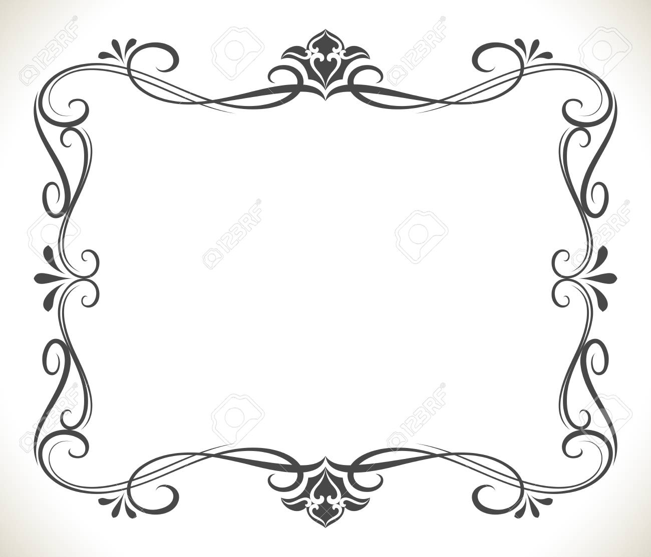 Black And White Floral Frame With Copy Space Vector Background ...