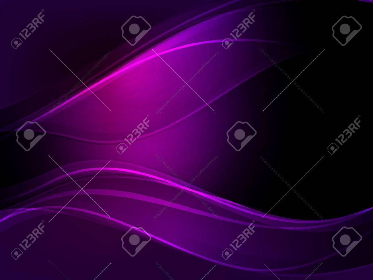 Abstract dark purple wave vector background. - 61846122
