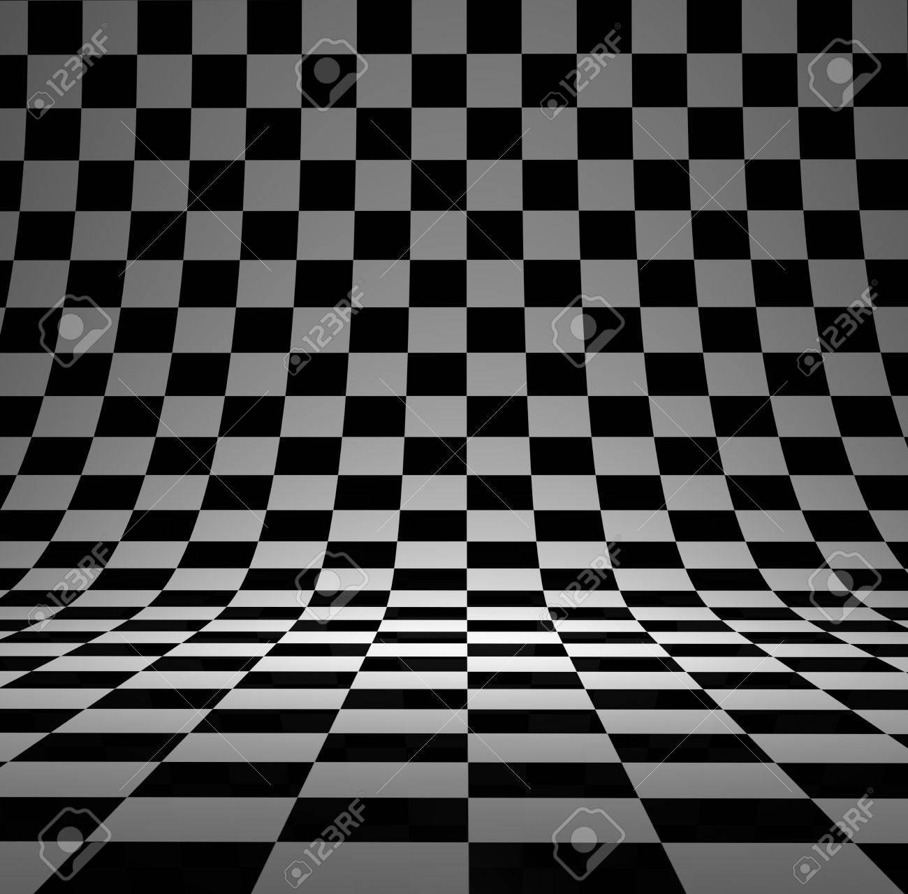 Black And White Checker 3d Studio Background Stock Photo Picture