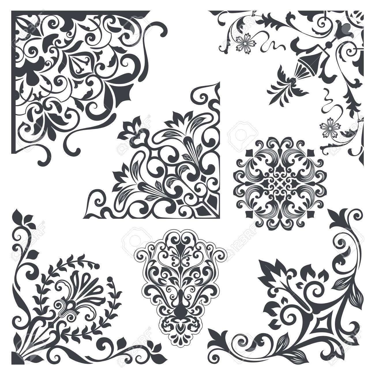 Get Corner Decorative Floral Vector