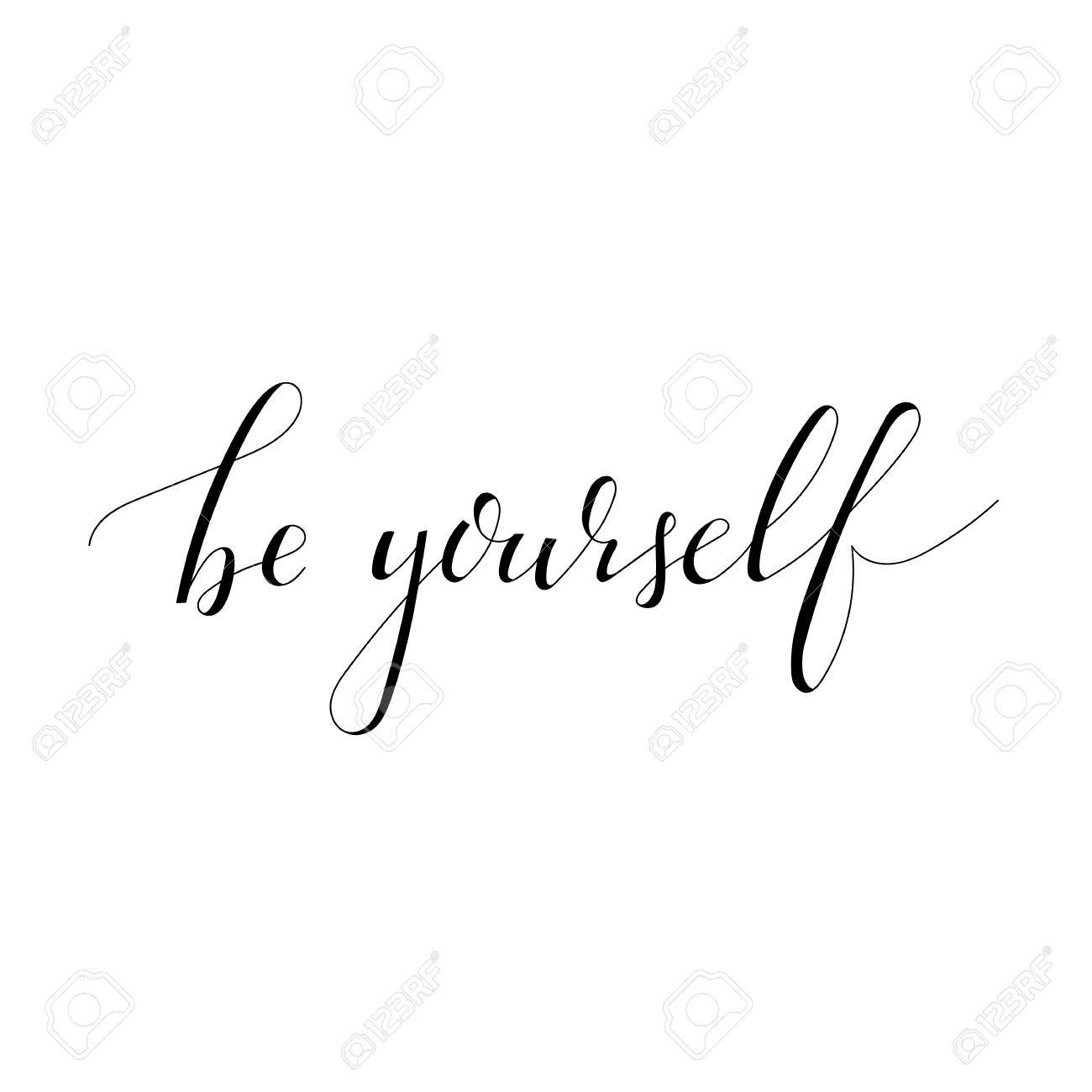 Inspirational quote Be yourself - 46643015