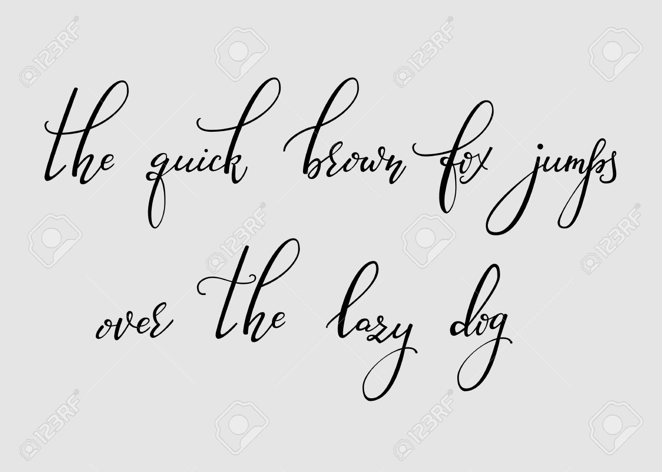 Handwritten Pointed Pen Ink Style Modern Calligraphy Cursive Font Alphabet Cute Letters
