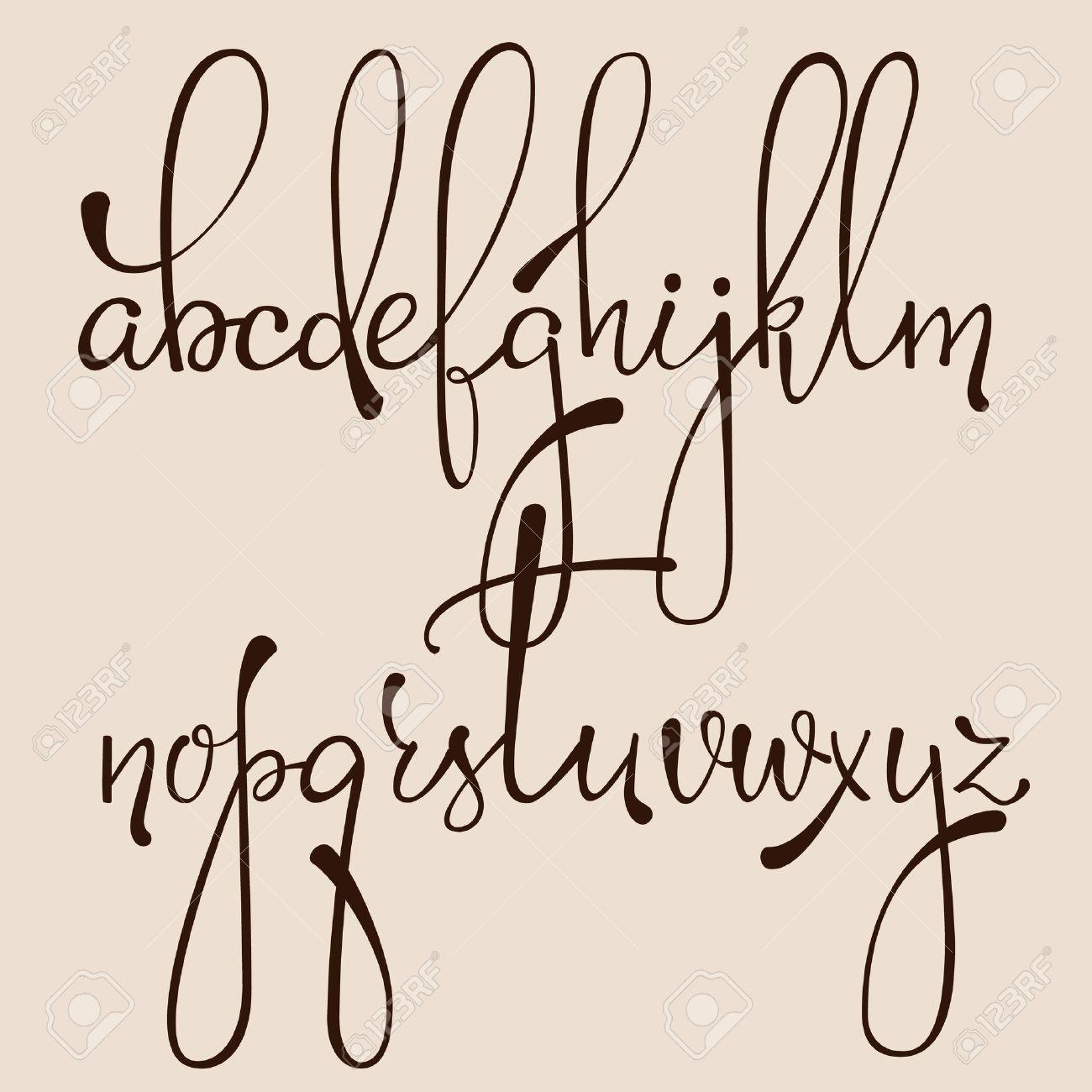 先の尖ったペン インク スタイル dacorative 書道草書フォントを手書き