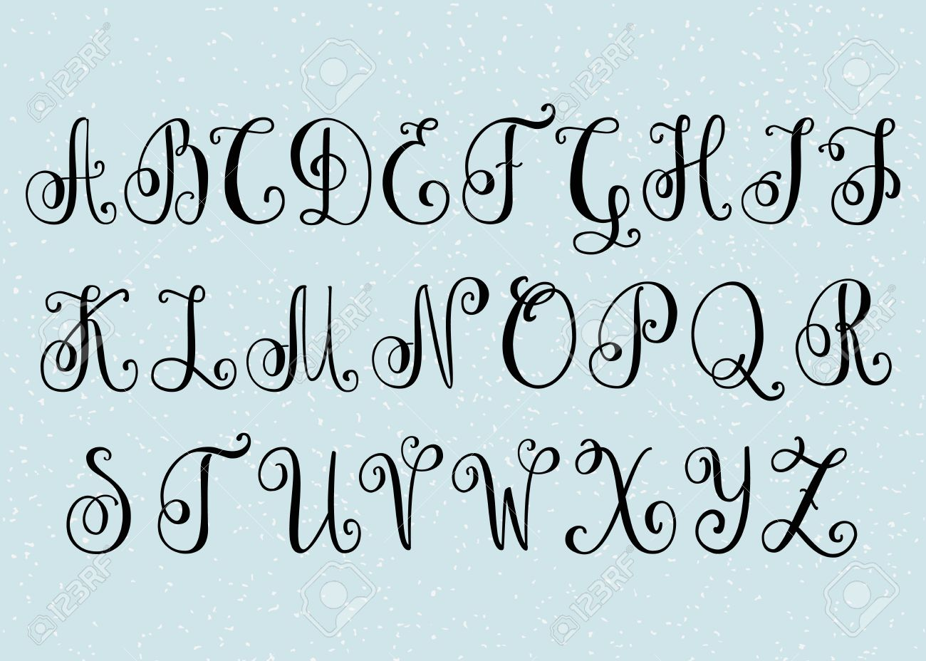 Handwritten Brush Super Flourish Font Capital Letters Modern