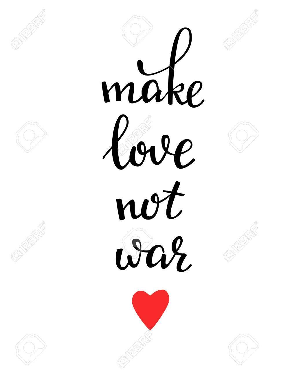 Top Faites L'amour Pas La Guerre Lettrage. Carte Postale De  BS52