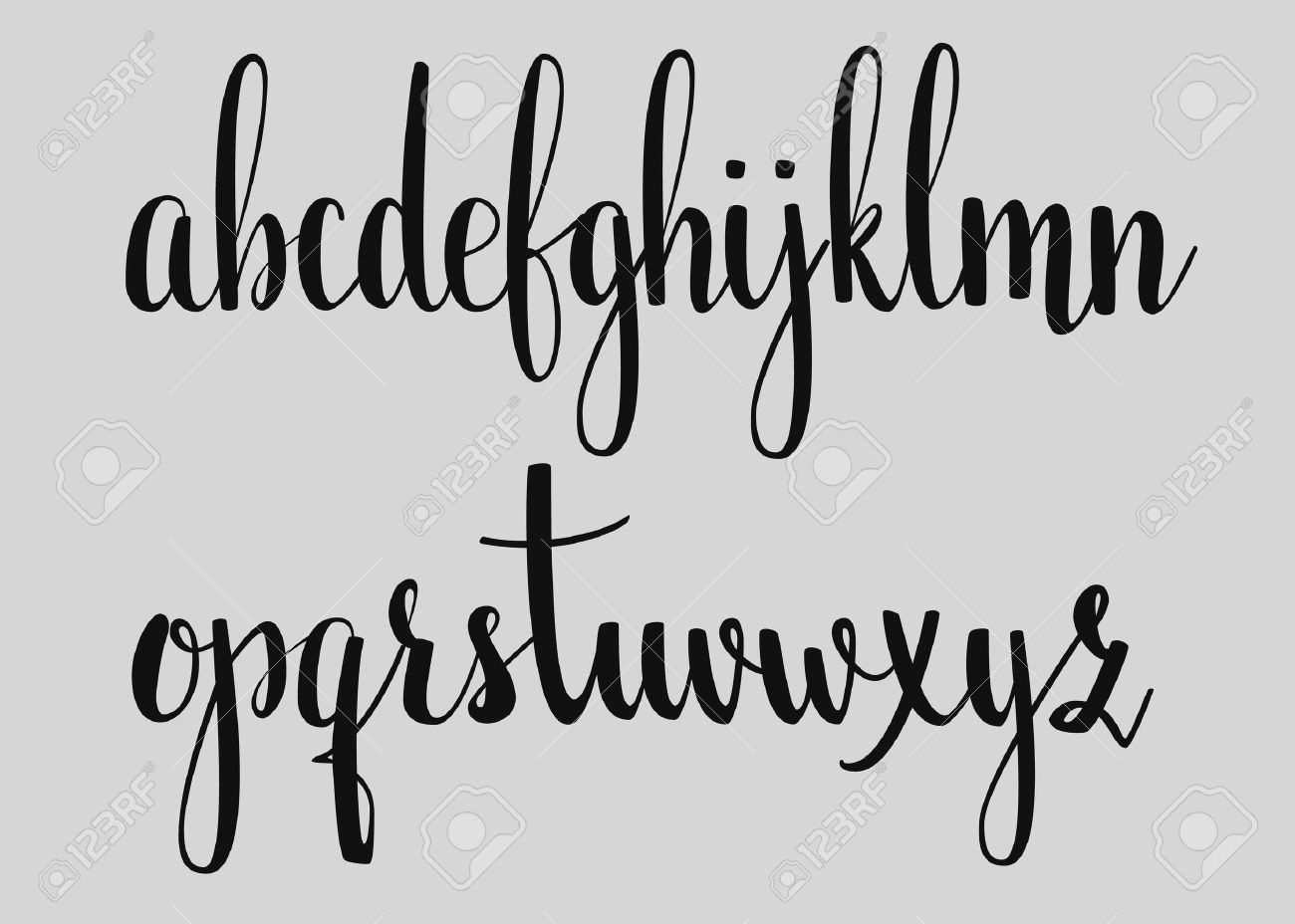 Handwritten Brush Style Modern Calligraphy Cursive Font Alphabet Cute Letters For