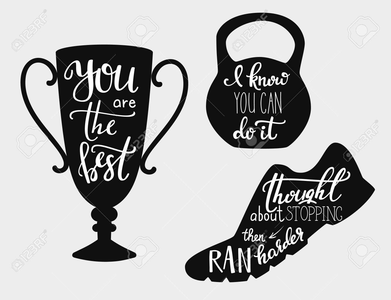 Quotes Motivation Lettering Quotes Motivation For Sportcalligraphy Style Quote