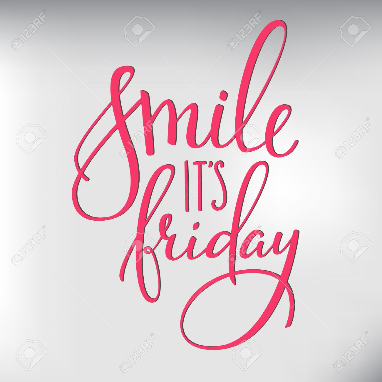 Smile its Friday lettering. Motivational quote. Weekend inspiration typography. Calligraphy postcard poster graphic design lettering element. Hand written sign. Decoration element. Hello Friday - 51079959
