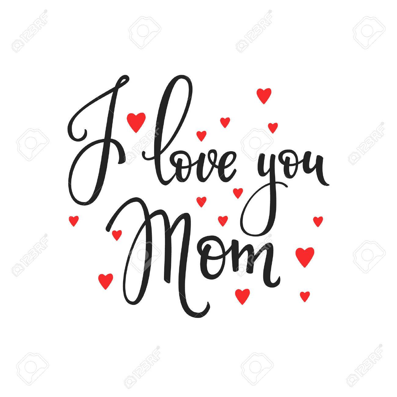 Happy Mothers Day Simple Typography Calligraphy Postcard Or Poster Graphic Design Lettering Element Hand