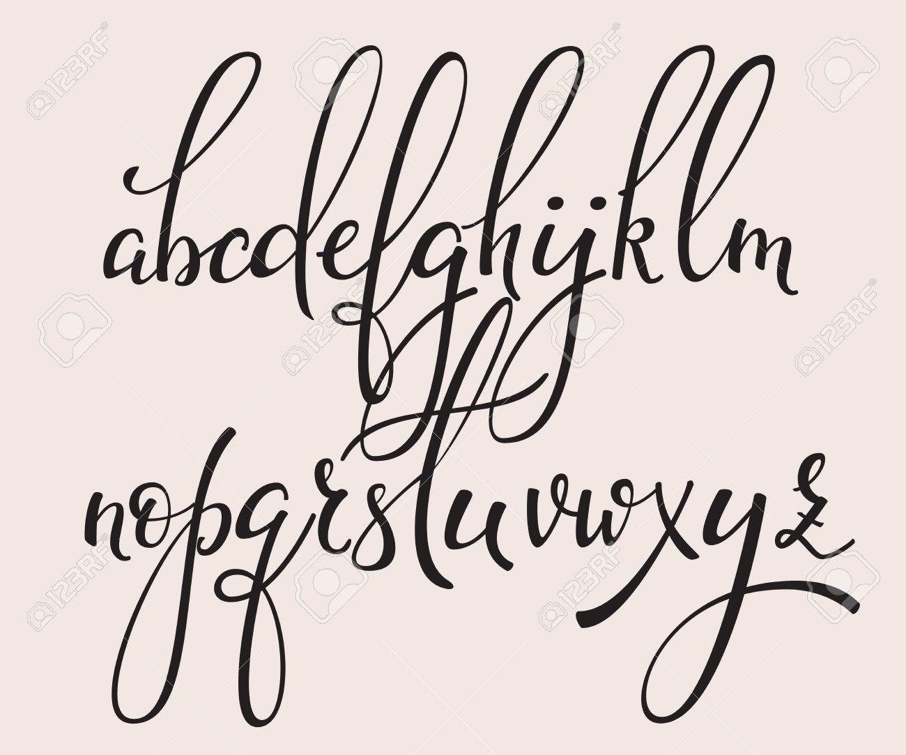 handwritten brush style modern calligraphy cursive font with