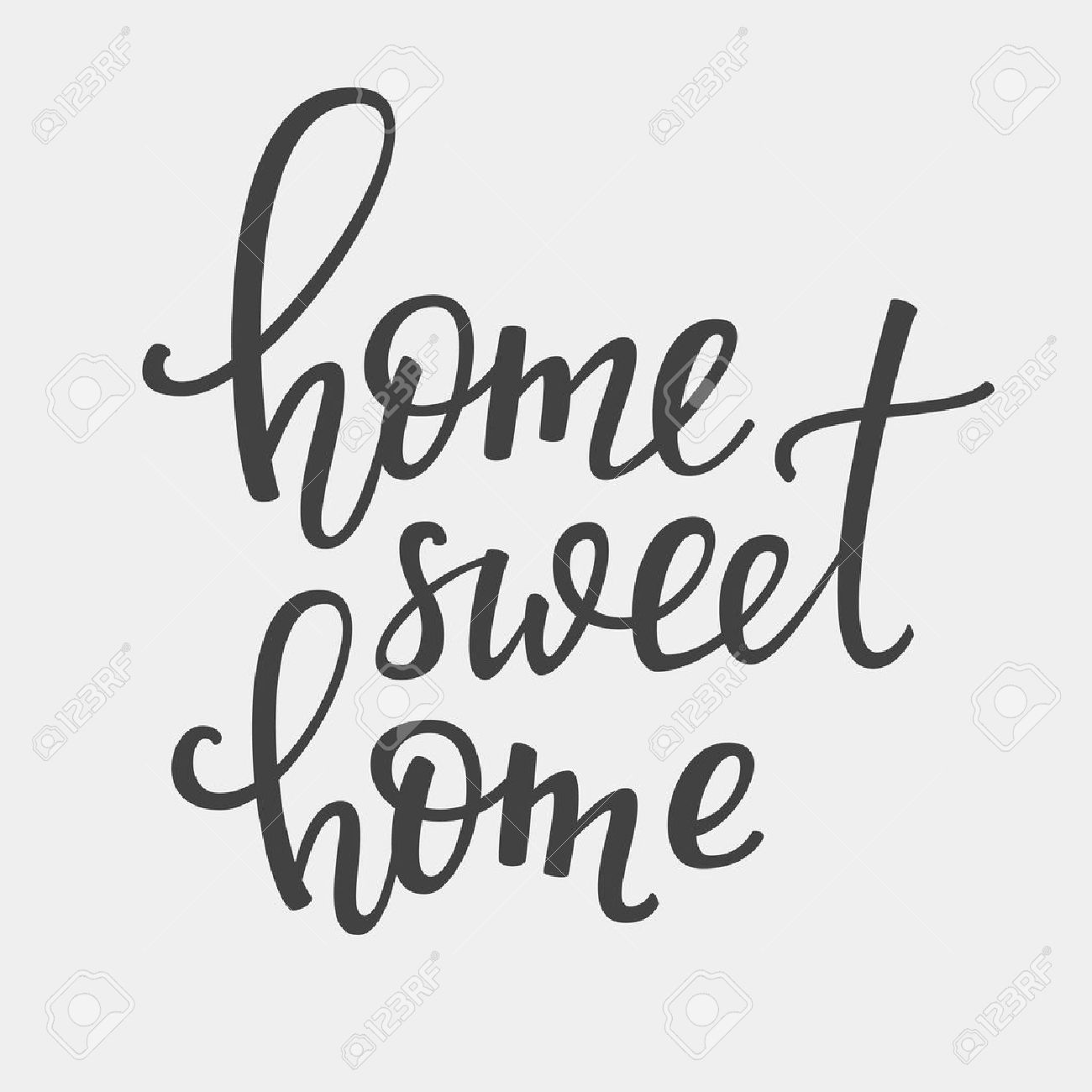 Home Sweet Home vector lettering. Motivational quote. Inspirational typography. Calligraphy postcard poster graphic design lettering element. Hand written sign. Decoration element. - 55617250