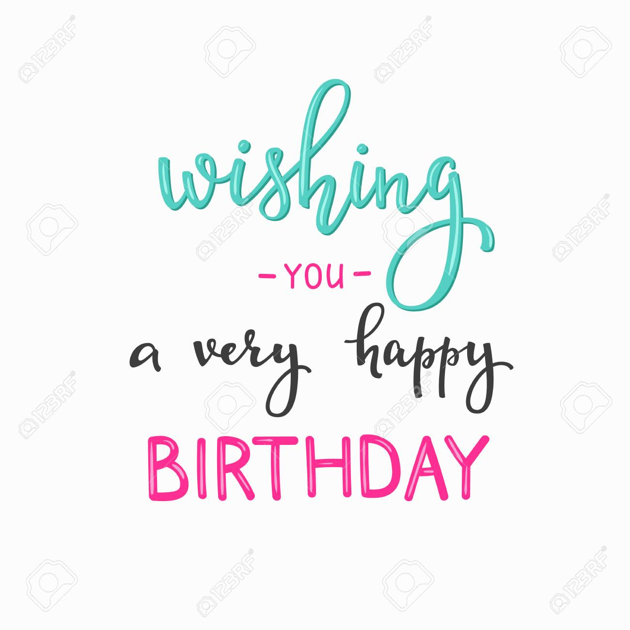 happy birthday lettering sign quote typography calligraphy design