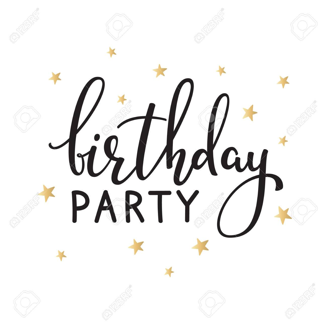 Alles Gute Zum Geburtstag Einladung Zeichen Zitat Typografie