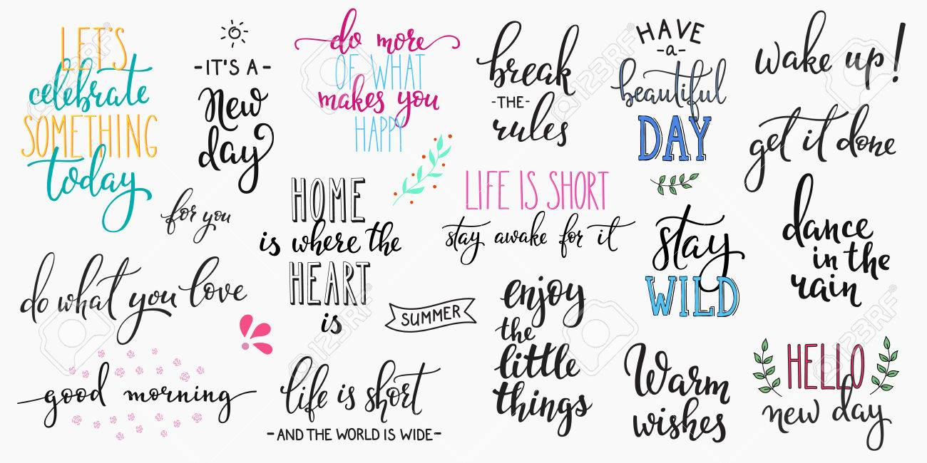 lettering photography overlay set motivational quote sweet