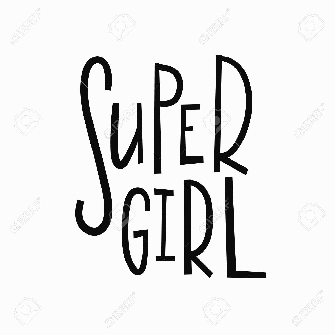 Super Girl T Shirt Quote Feminist Lettering Calligraphy Inspiration