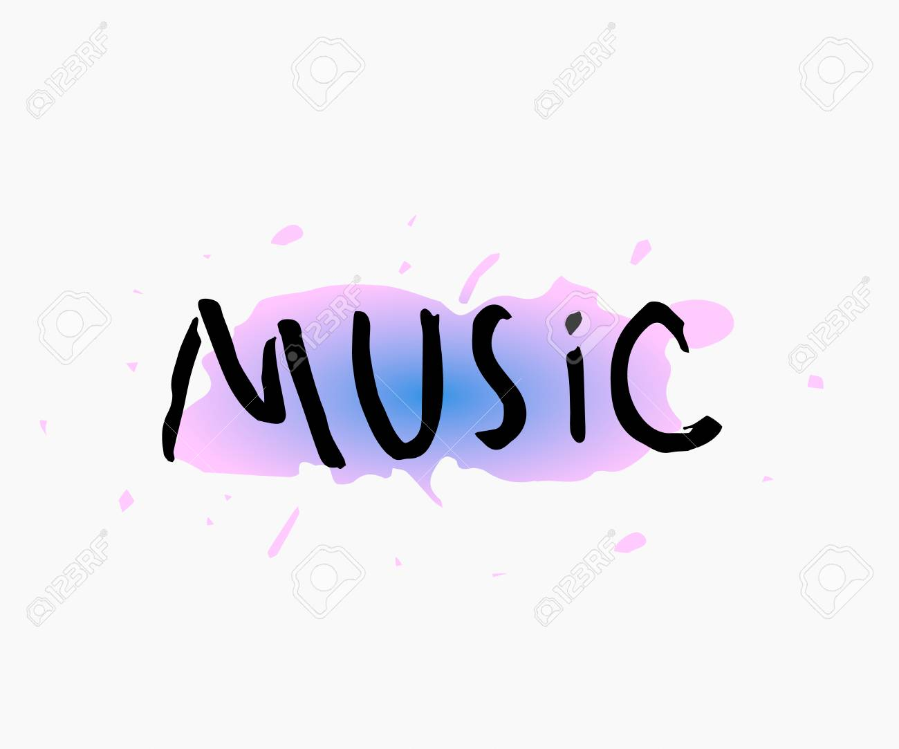 Music Abstract Quote Lettering Calligraphy Inspiration Graphic
