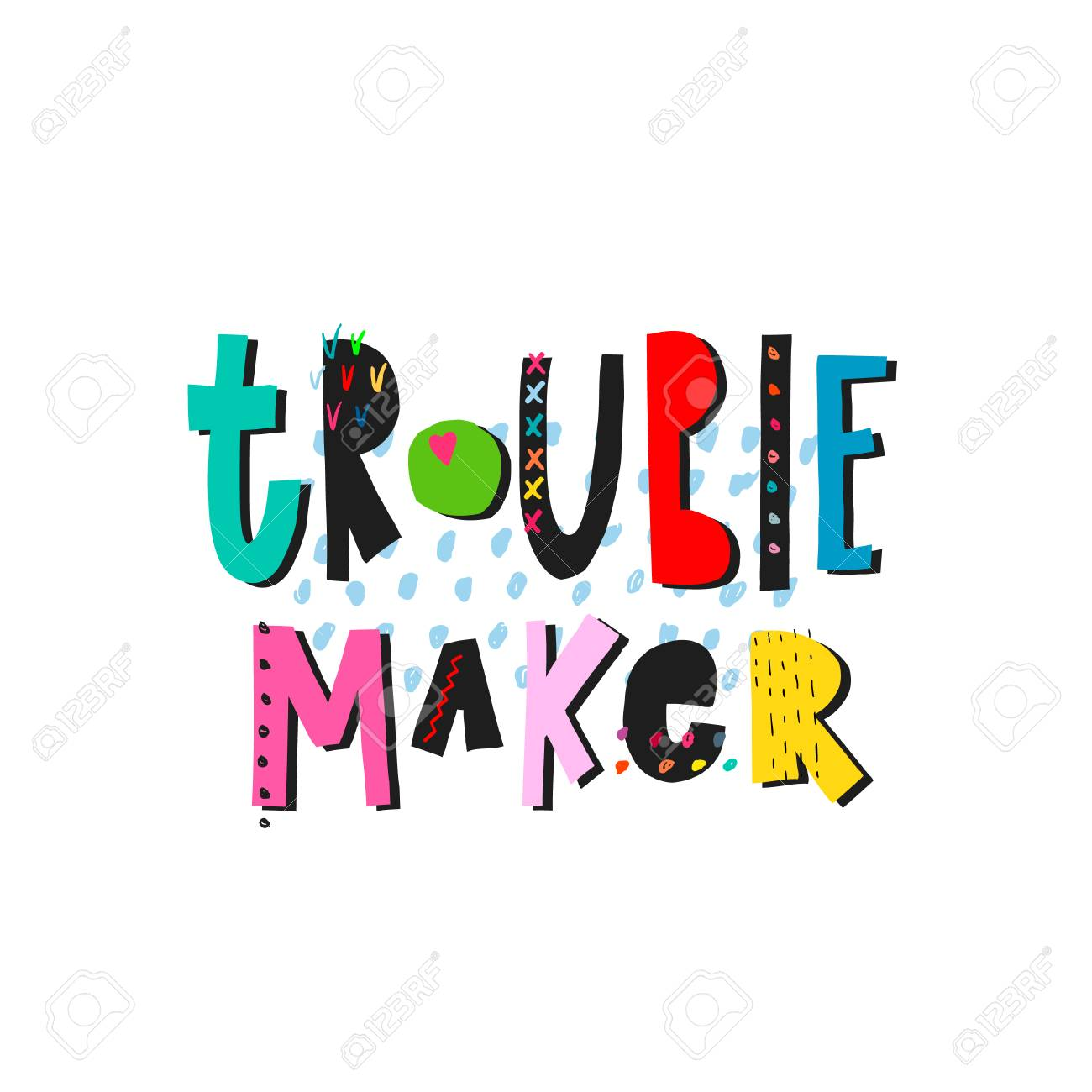 trouble maker shirt quote lettering inspiration graphic design