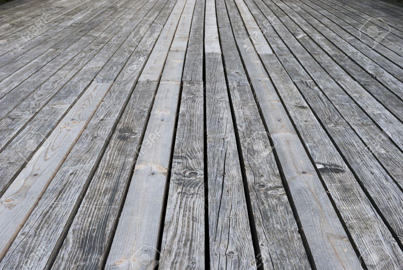 Aged gray wooden terrace floor Stock Photo - 15890078