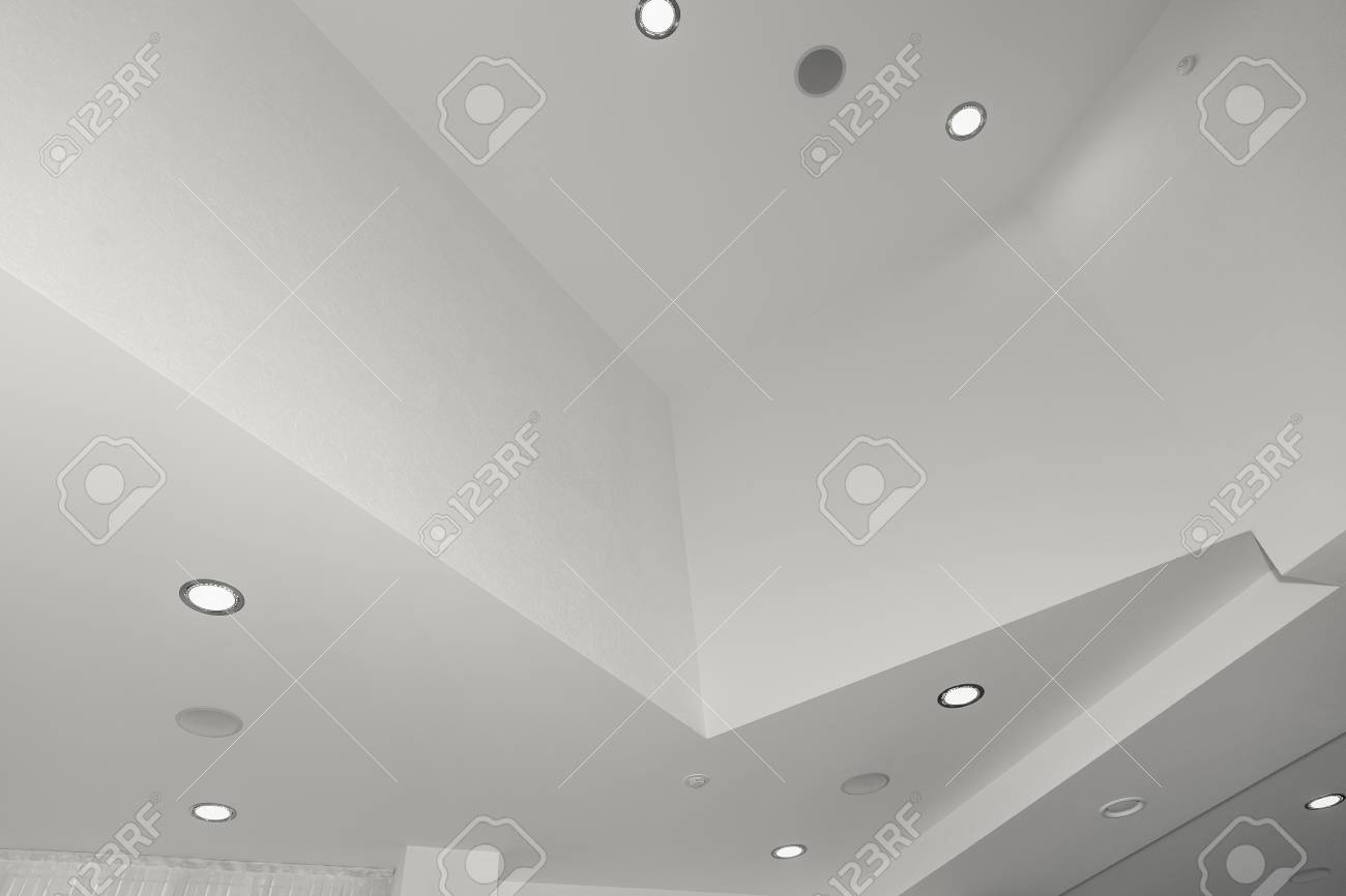 Office Ceiling Fluorescent Lamp On The Modern Ceiling Lights Stock Photo Picture And Royalty Free Image Image 76604186