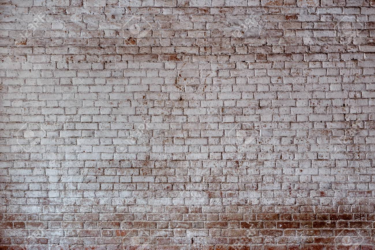 Empty Old Brick Wall Texture Painted Distressed Wall Surface