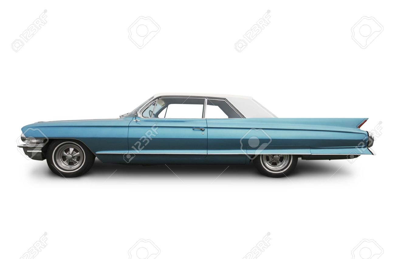 Side View Of An Old American Car Stock Photo Picture And Royalty