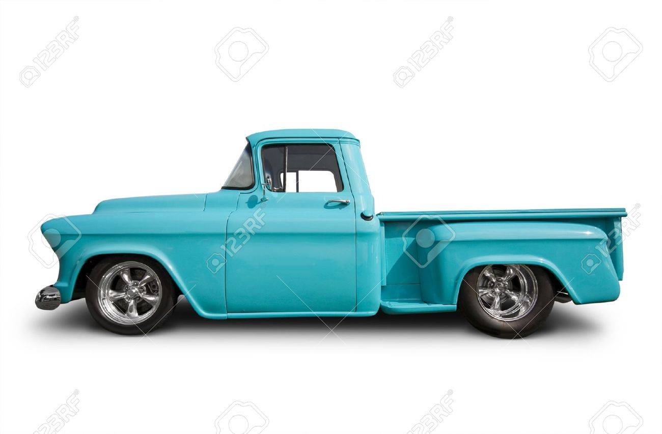 Side View Of Hot Rod Pick Up Truck Stock Photo, Picture And Royalty ...