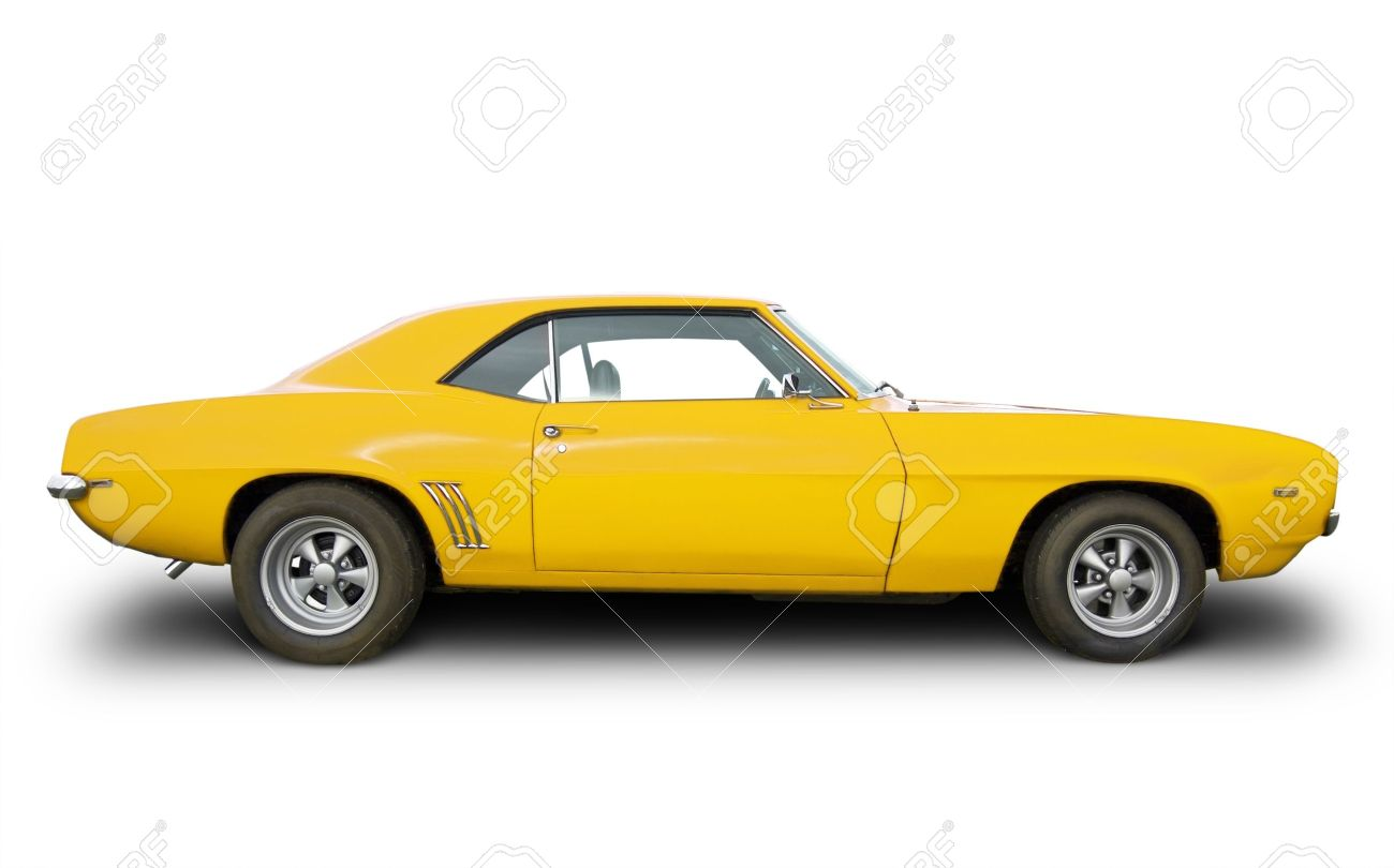 Side View Of Yellow Hot Rod Stock Photo Picture And Royalty Free