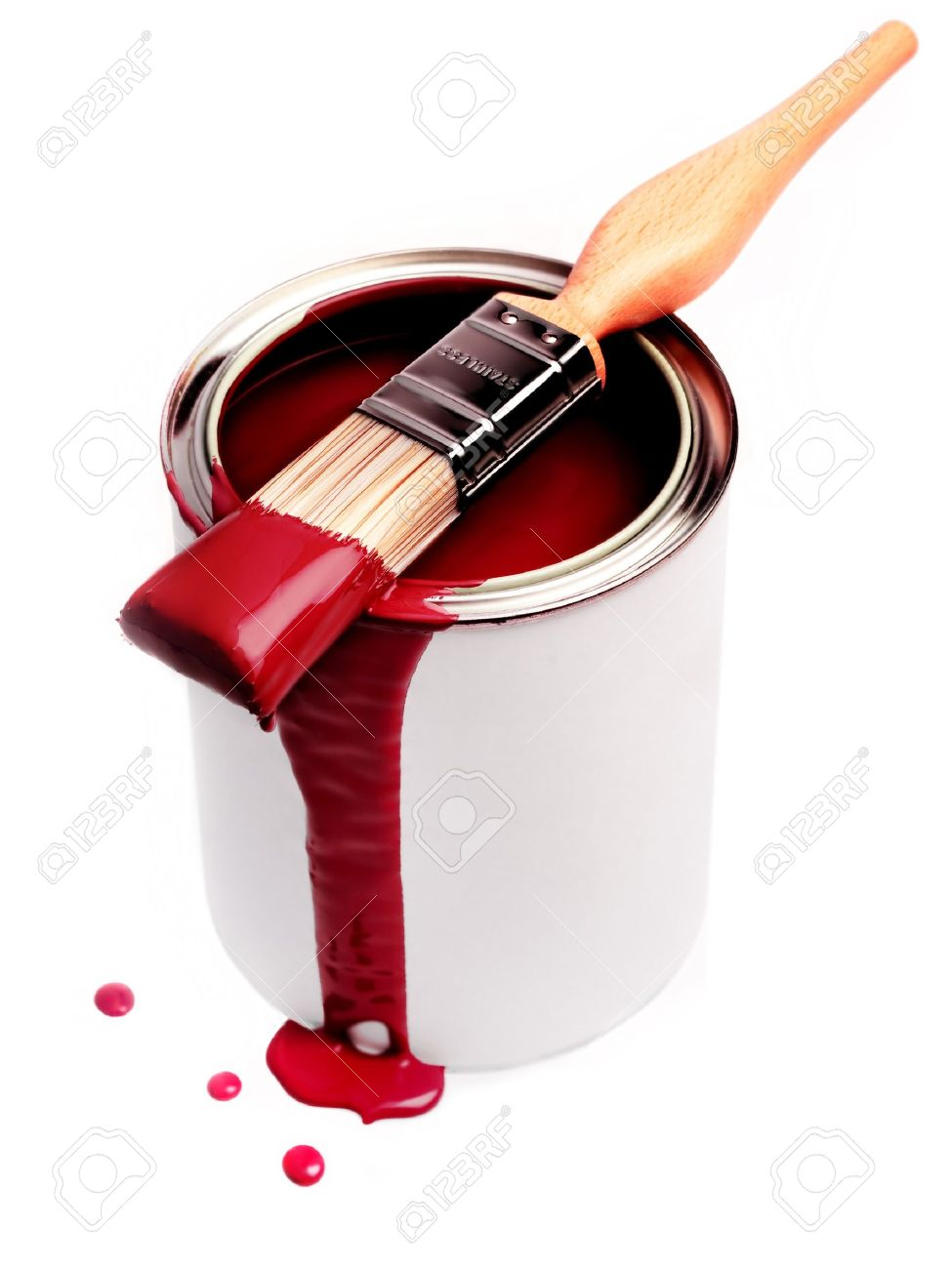 Red Paint can red paint stock photos & pictures. royalty free can red paint