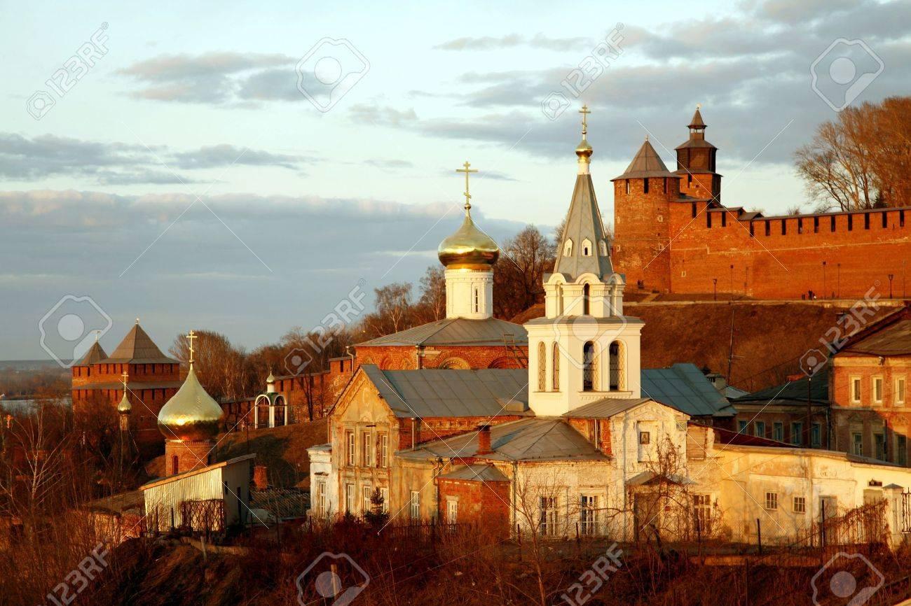 Church of Elijah the Prophet and Kremlin. Nizhny Novgorod, Russia. Stock Photo - 12467281