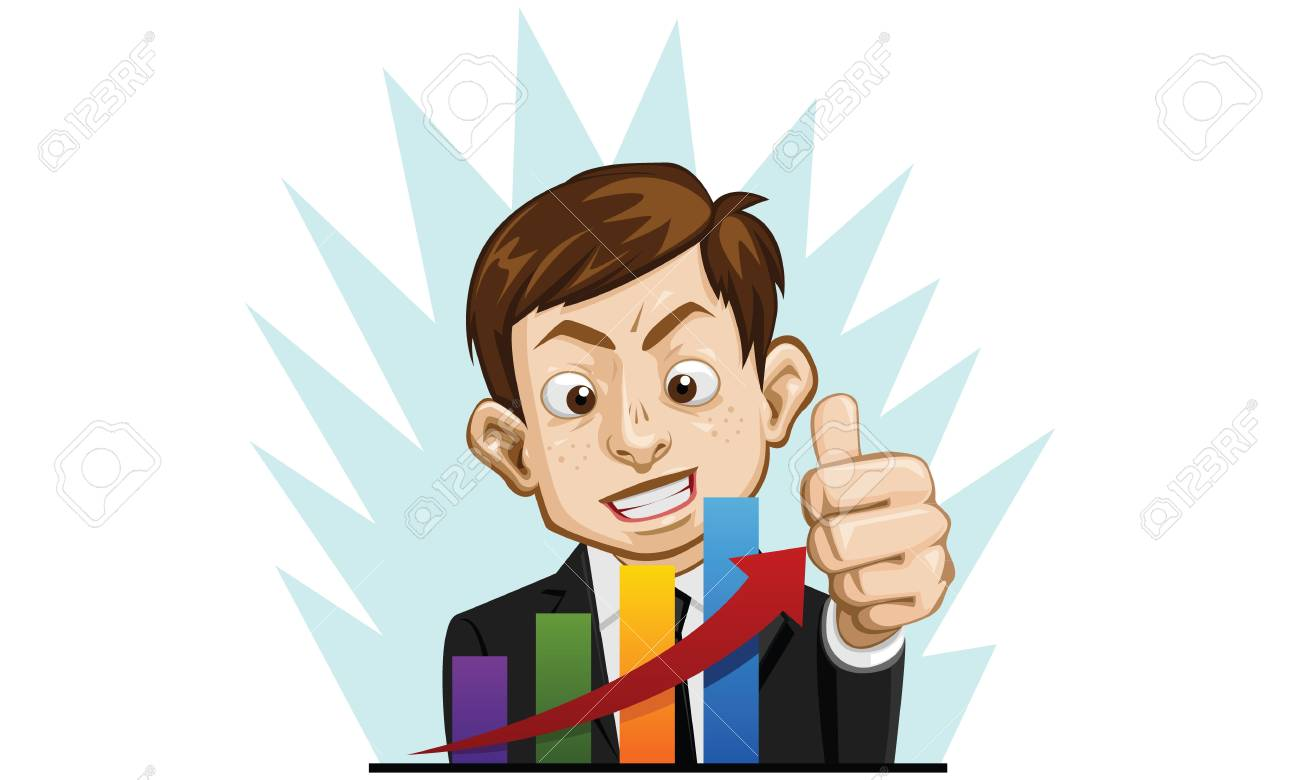 business man happy Stock Vector - 13942296