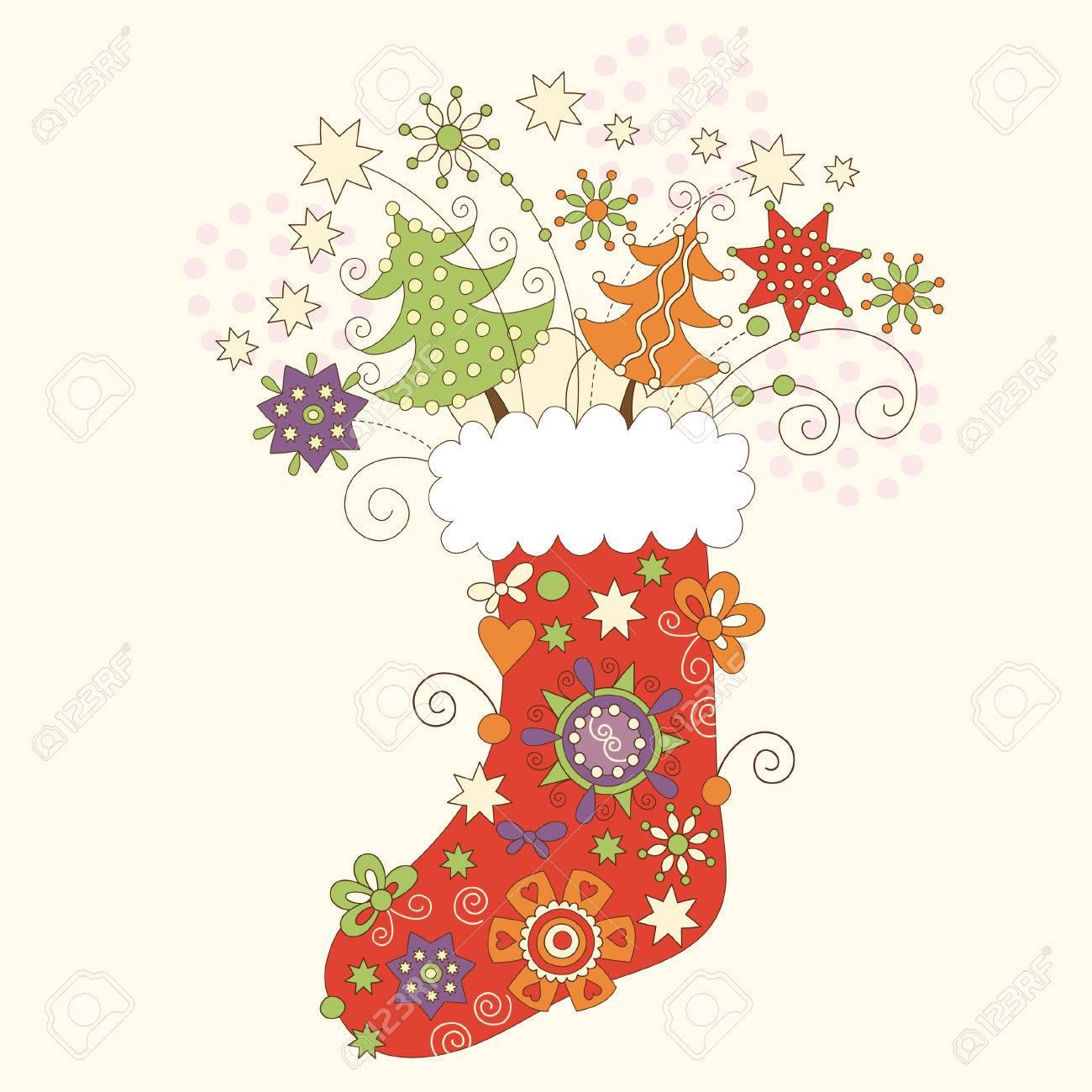 Christmas sock Stock Vector - 7957461