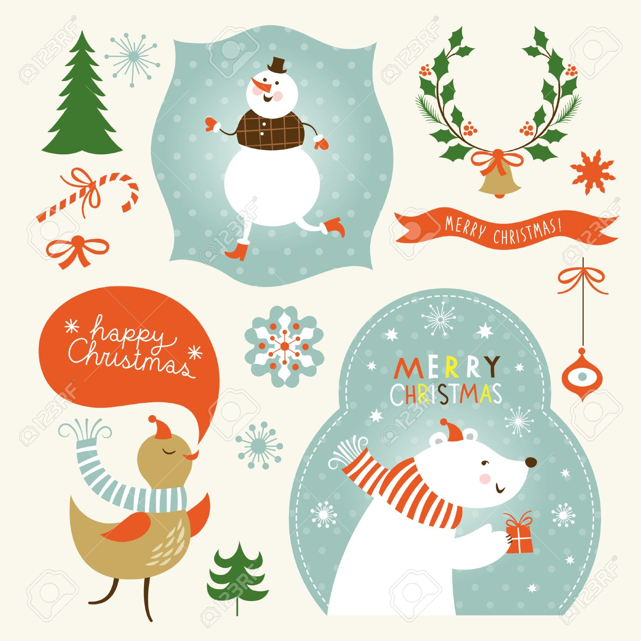 Christmas Graphic.Set Of Christmas And New Year S Graphic Elements