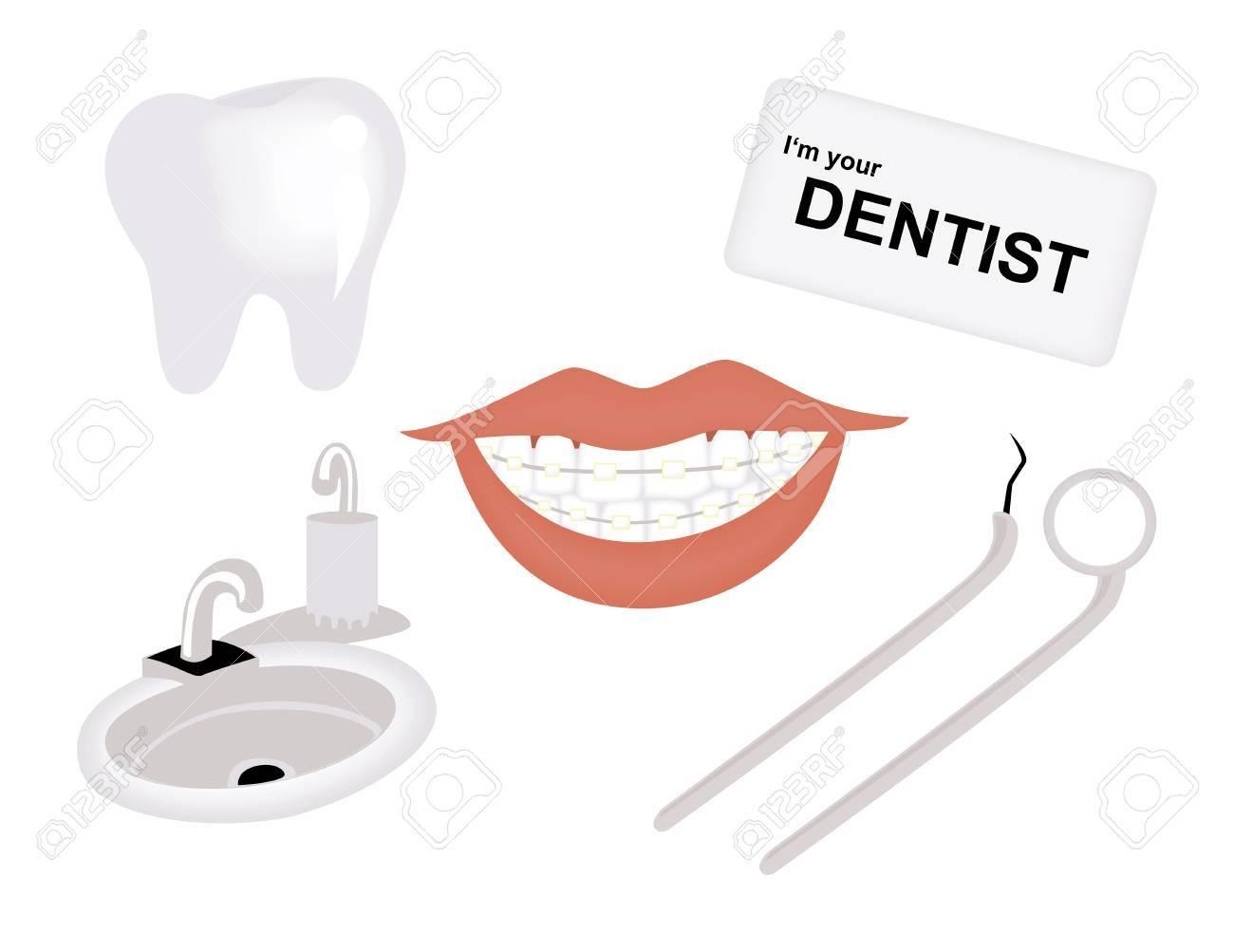 Dental Icons Stock Vector - 1390829
