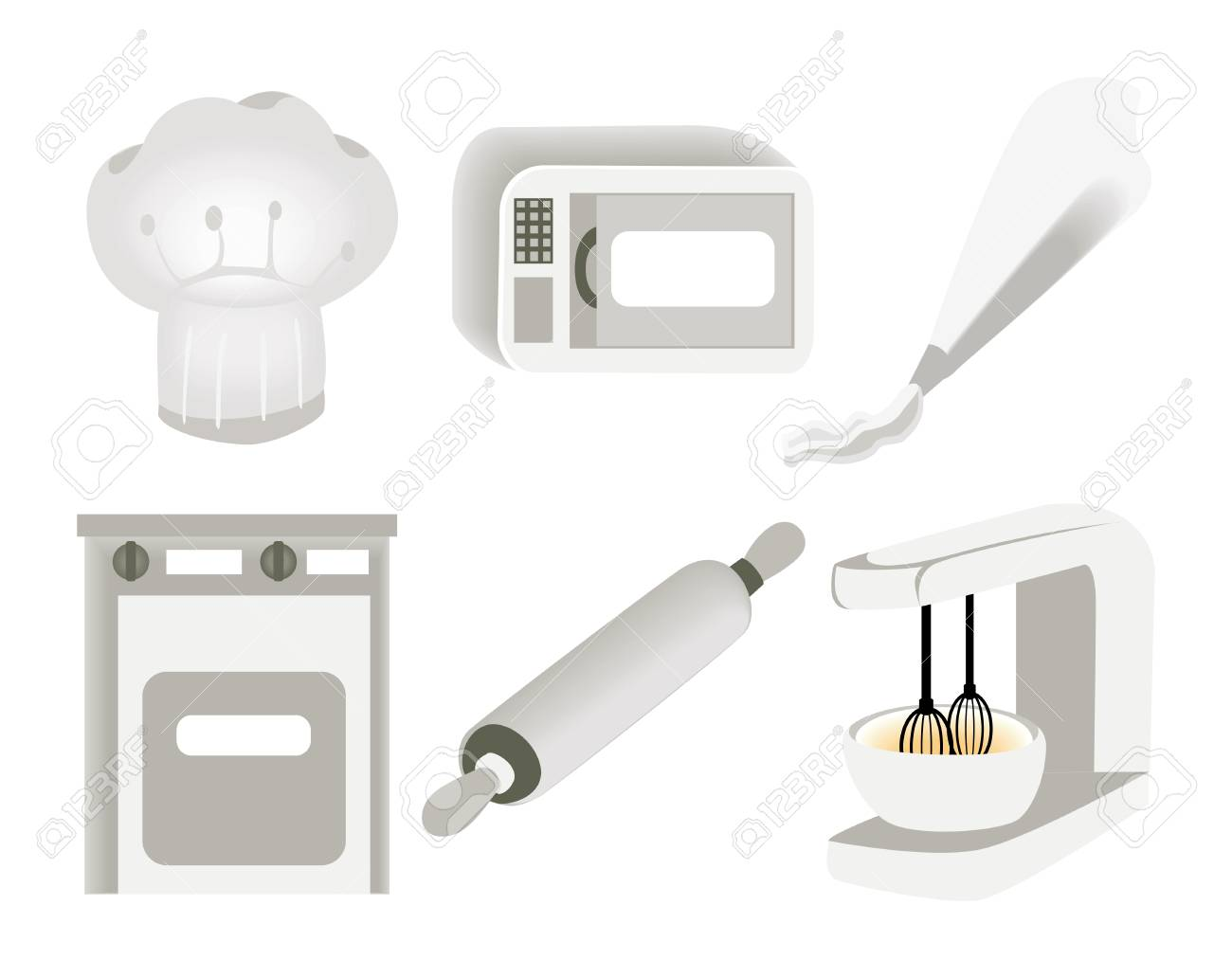 Baking Icons Stock Vector - 1390836